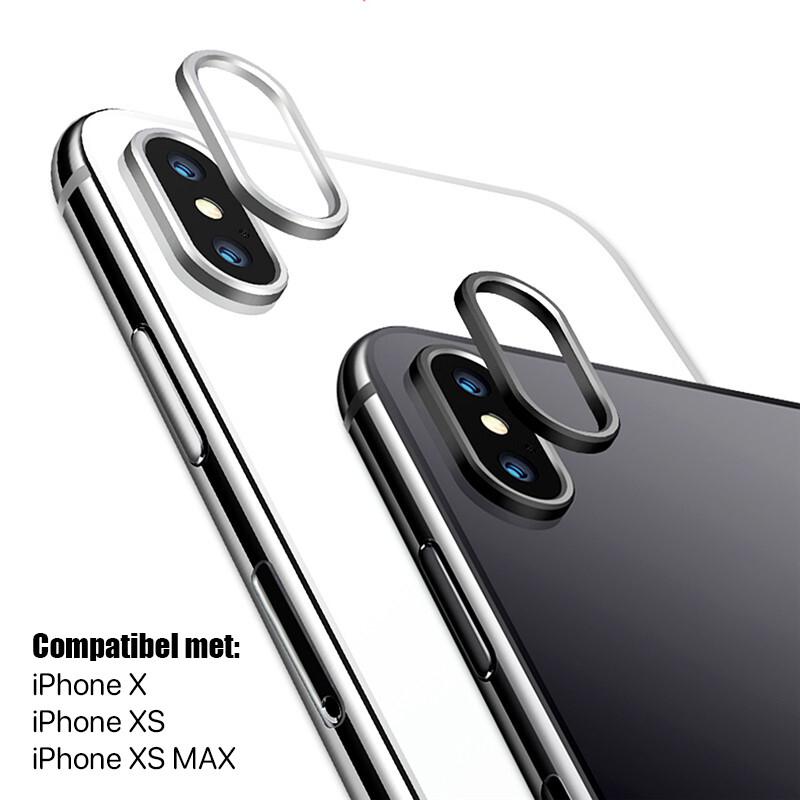 iPhone X / XS / XS MAX Glazen Camera Cover - Zwart