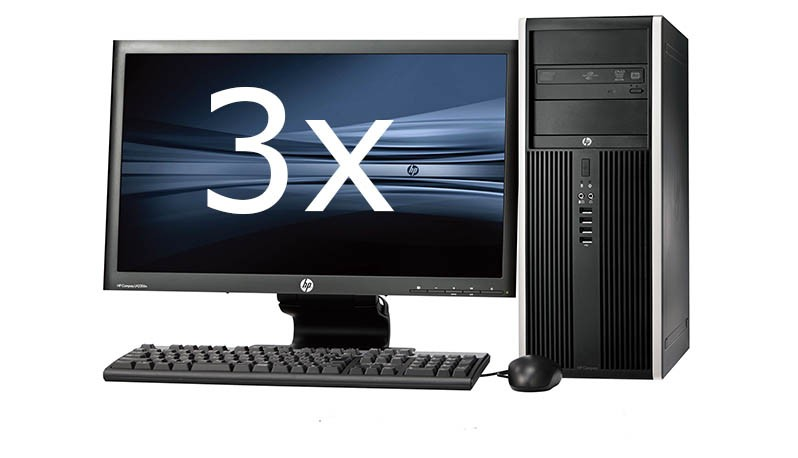 HP Elite 8100 Tower intel i7 + Dual 3x 23'' Widescreen LCD