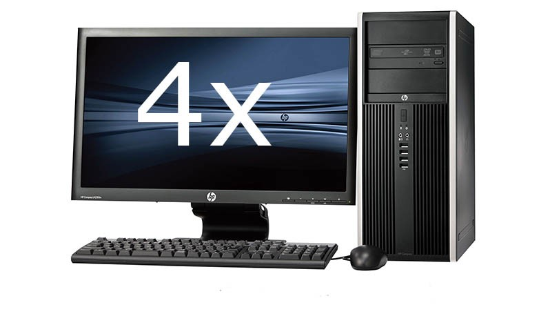 HP Elite 8100 Tower intel i5 + Dual 4x 23'' Widescreen LCD