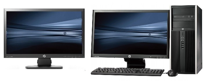 HP Elite 8200 Tower intel G840 + Dual 2x 22'' Widescreen LCD
