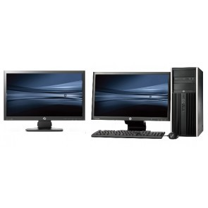 HP Elite 8100 Tower intel i7 + Dual 2x 23'' Widescreen LCD