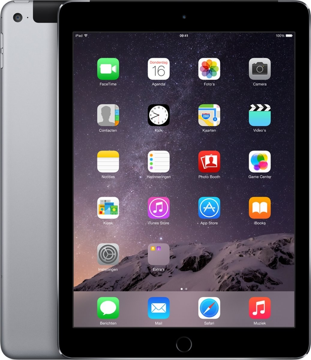 Apple iPad Air 2 - 128GB - 4G - Space Grey - (Retina Display) - B+ Grade Tweedehands