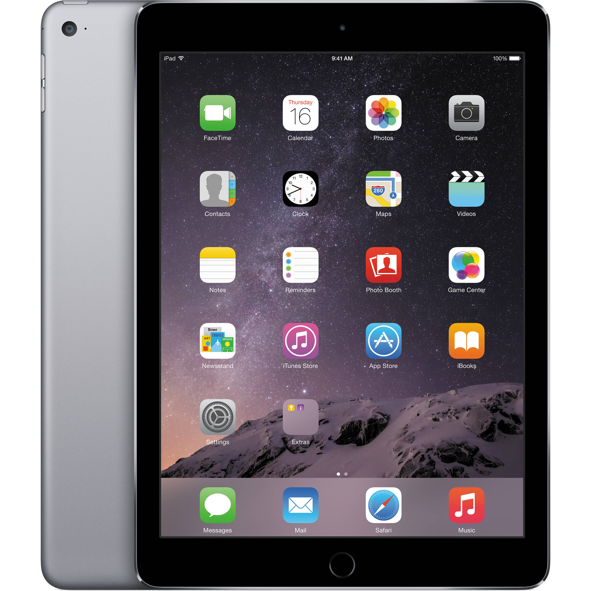 Apple iPad Air - 16GB - White Silver - (Retina Display) - B+ Grade Tweedehands