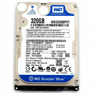 320GB 2.5inch SATA