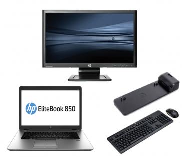 HP Elitebook 850 G2 - Intel Core i5 - 8GB - 320GB HDD + Docking + 22'' Widescreen Monitor