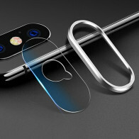 iPhone X / XS / XS MAX Glazen Camera Cover - Zilver