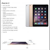 Apple iPad Air 2 - 64GB - White Silver - (Retina Display) - B+ Grade