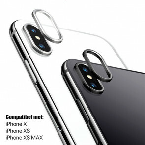 iPhone X / XS / XS MAX Glazen Camera Cover - Zilver