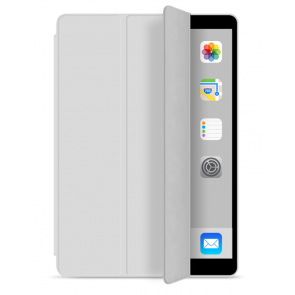 Tri-Fold Book Leder Case iPad Air - Wit / Crème