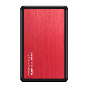 USB 3.1 SSD\HDD Harde Schijf Behuizing - Rood (Nieuw in doos)
