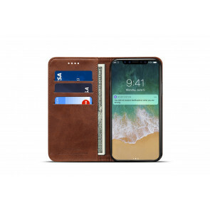 iPhone X/ XS Case - 100% Leather - Donker Bruin
