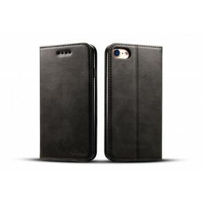 iPhone X/ XS Case - 100% Leather - Zwart