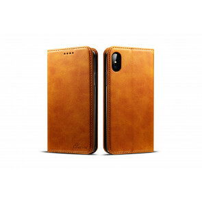 iPhone X/ XS Case - 100% Leather - Bruin