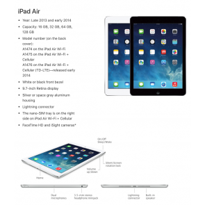 Apple iPad Air - 16GB - Space Grey - (Retina Display)
