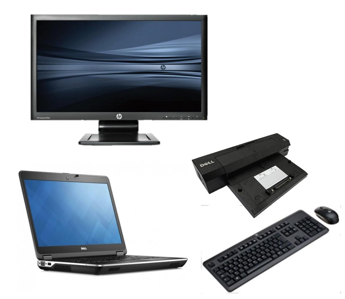 Dell Latitude E6440 intel i5 128GB SSD + Docking + 22'' Widescreen Monitor