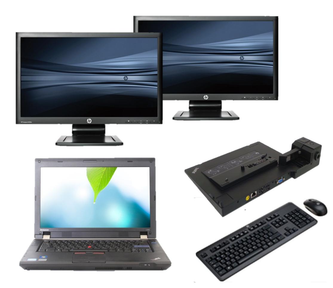 Lenovo Thinkpad L420 intel i5 + Docking + Dual 2x 22'' Widescreen Monitor