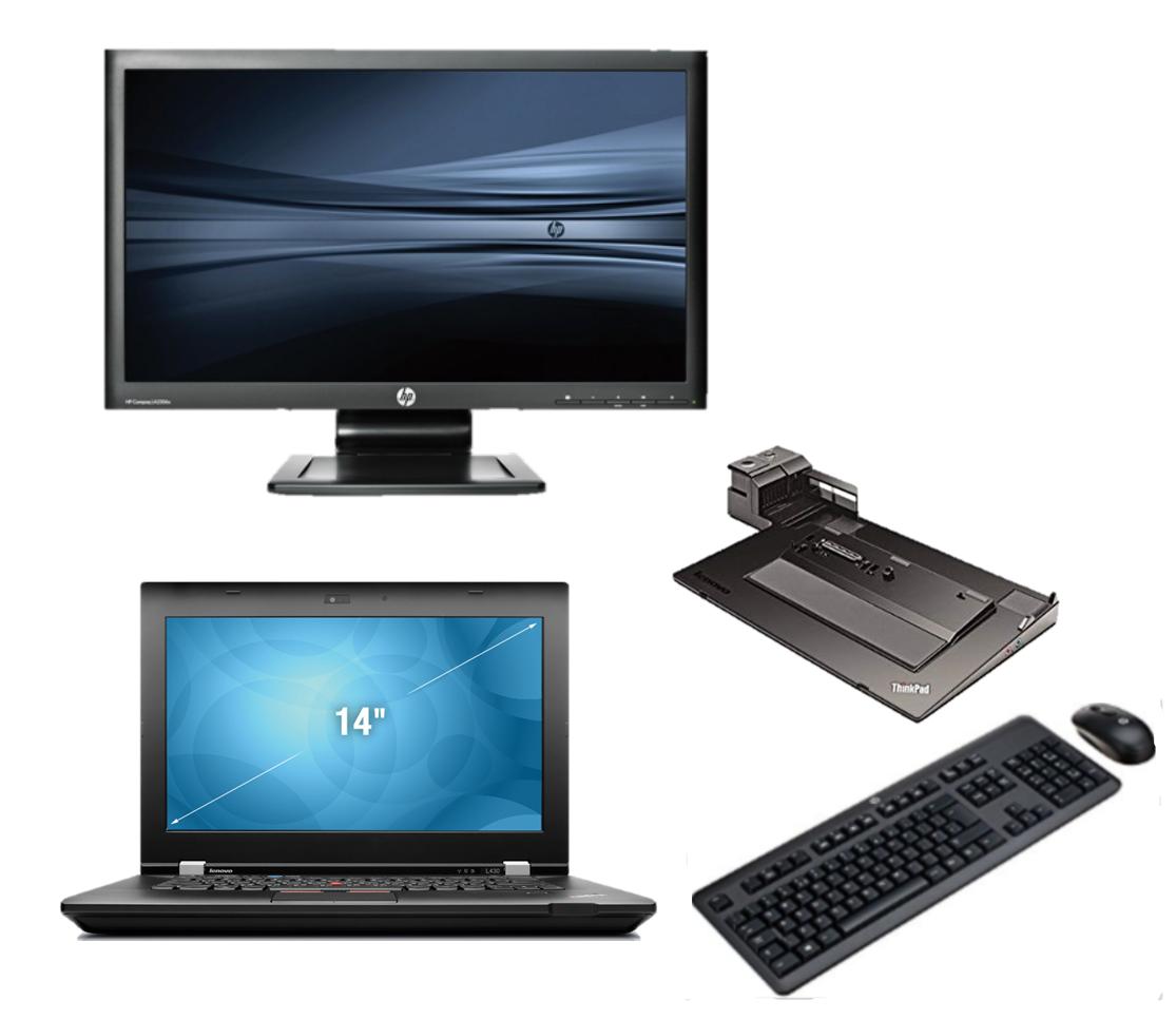 Lenovo Thinkpad T410 intel i5 + Docking + 23'' Widescreen FullHD Monitor