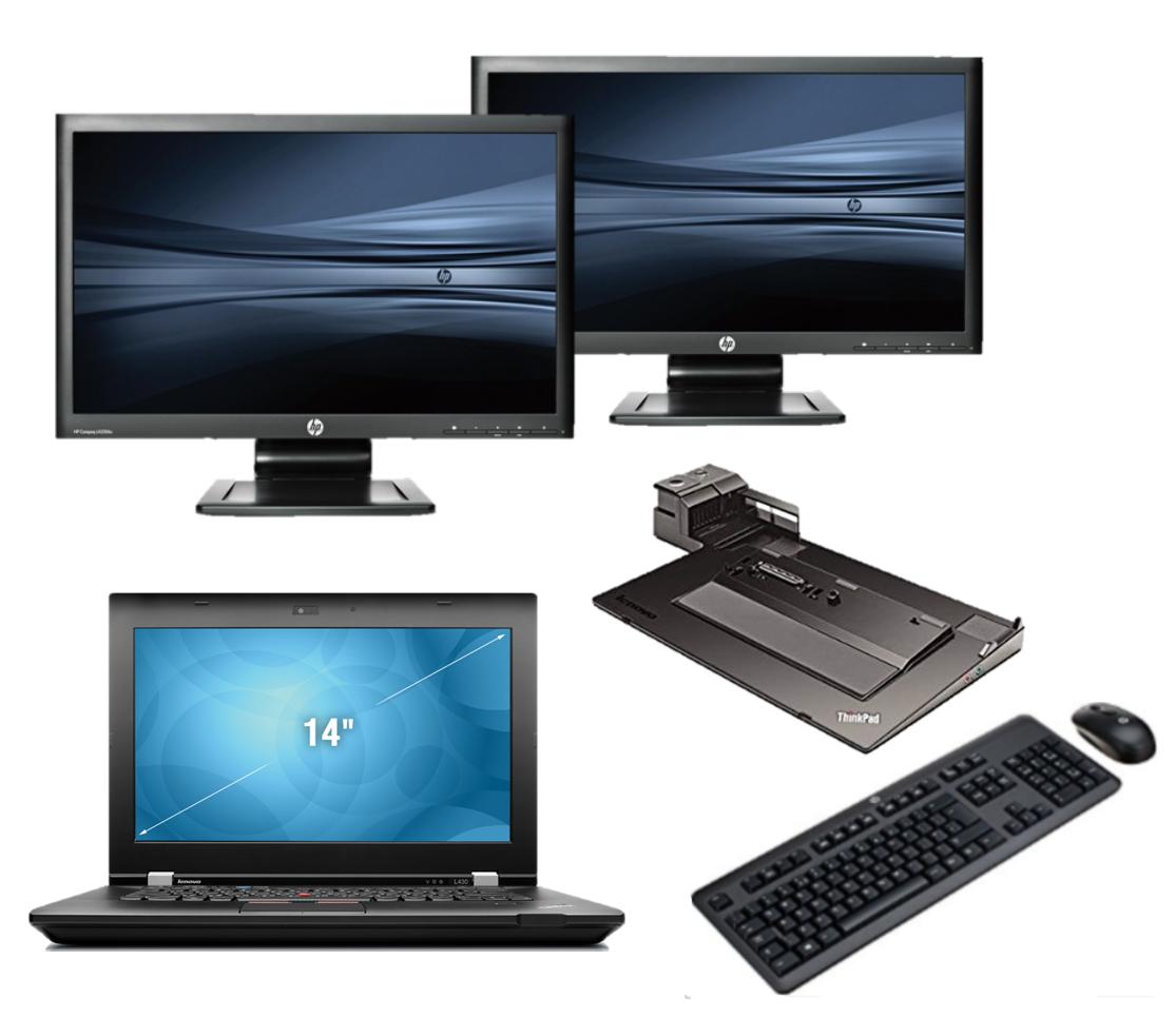 Lenovo Thinkpad T410 intel i5 + Docking + Dual 2x 23'' Widescreen FullHD Monitor