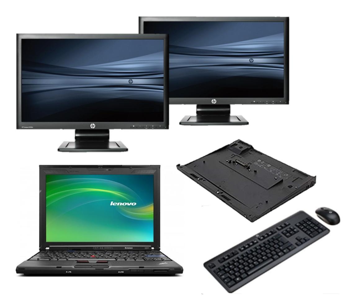 Lenovo Thinkpad X201 intel i5 + Docking + Dual 2x 24'' Widescreen Monitor