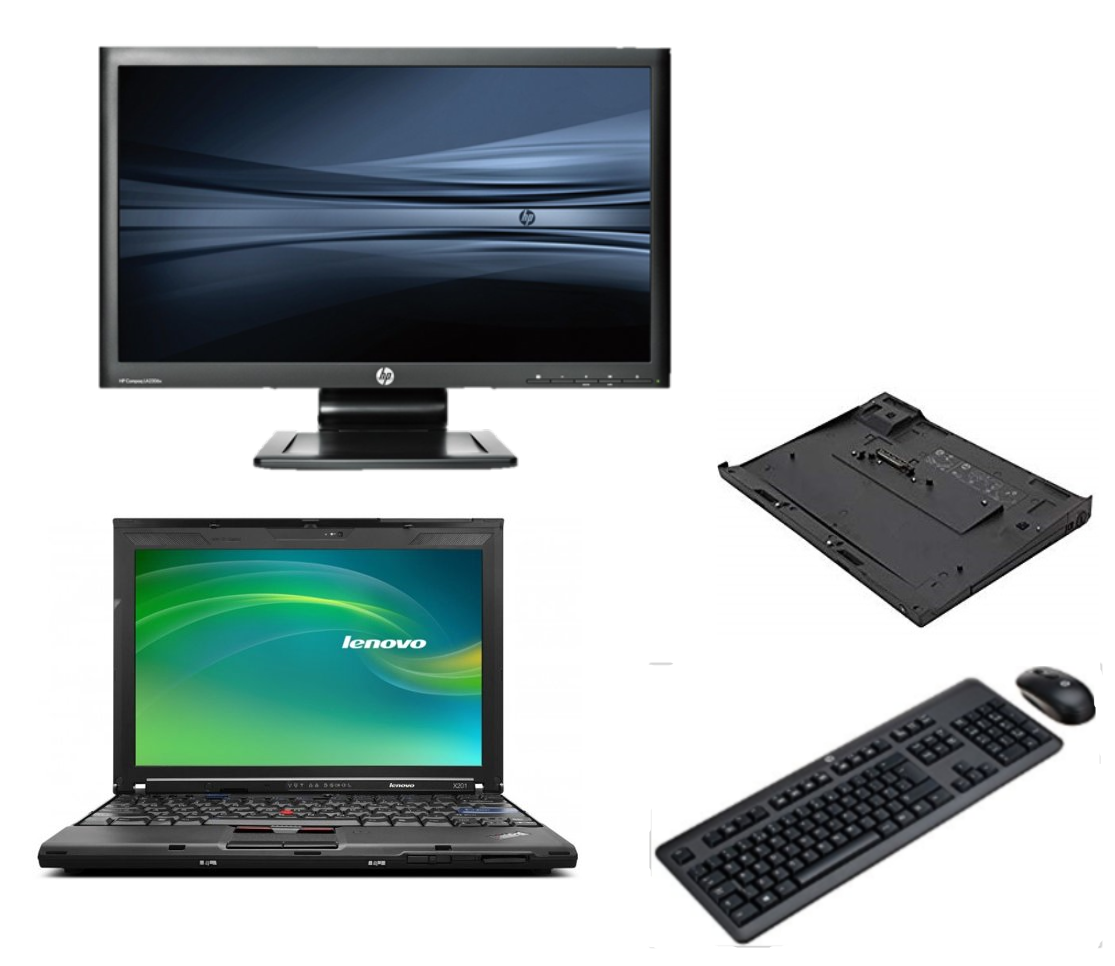 Lenovo Thinkpad X201 intel i5 + Docking + 24'' Widescreen Monitor
