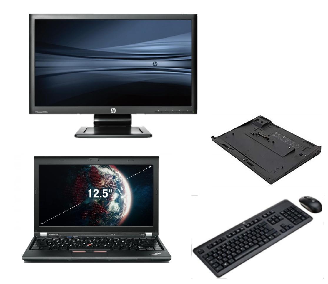 Lenovo Thinkpad X220 intel i5 + Docking + 23'' Widescreen FullHD Monitor