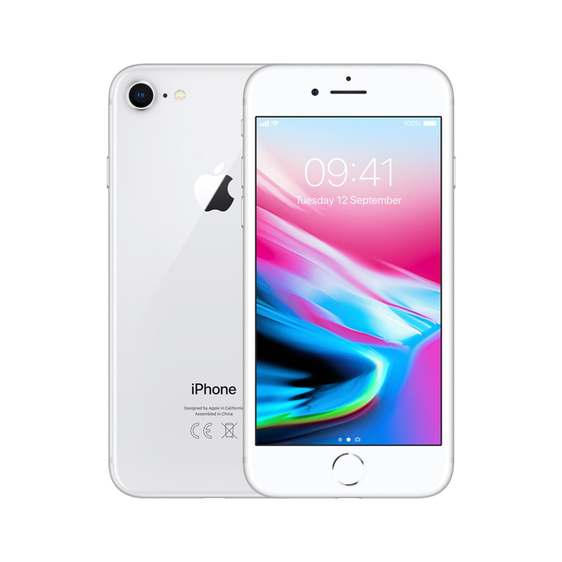 Apple iPhone 8 - 64GB - White Silver - B+ Grade