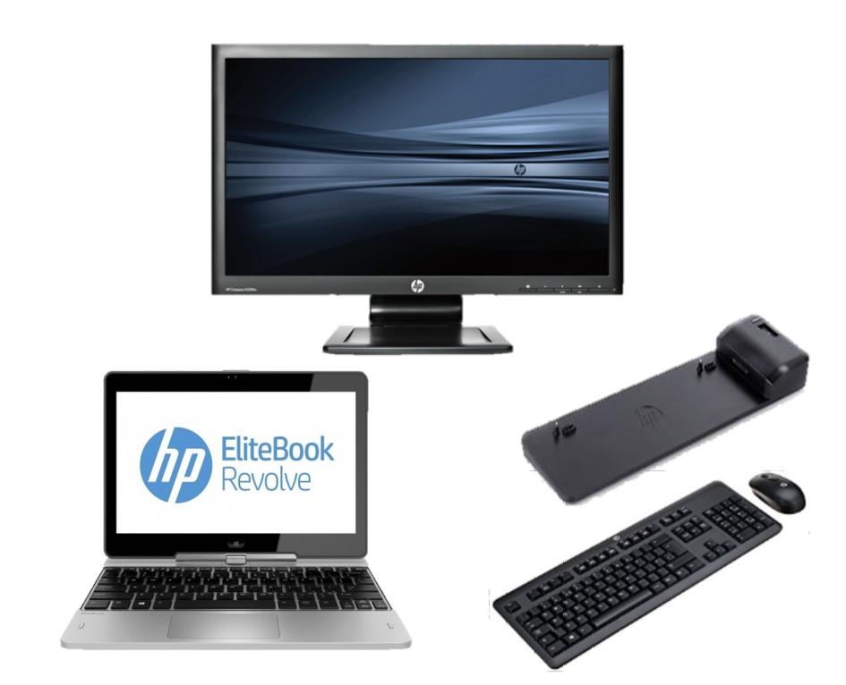 hp Elitebook Revolve 810 G2 - Intel Core i5 - 8GB - 128GB SSD - B-Grade + Docking + 24'' Widescreen Monitor