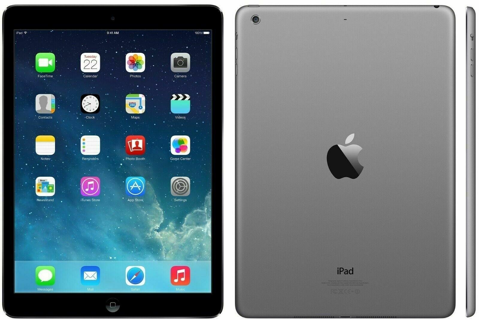 Apple iPad Air - 32GB - Space Grey - Retina Display - (Als Nieuw) A+ Grade Tweedehands