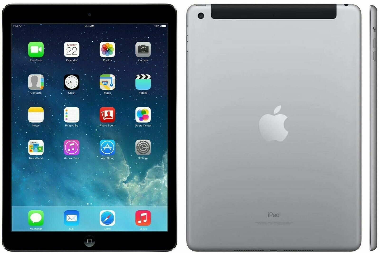 Apple iPad Air - 128GB - 4G - Space Grey - (Retina Display) - B+ Grade Tweedehands