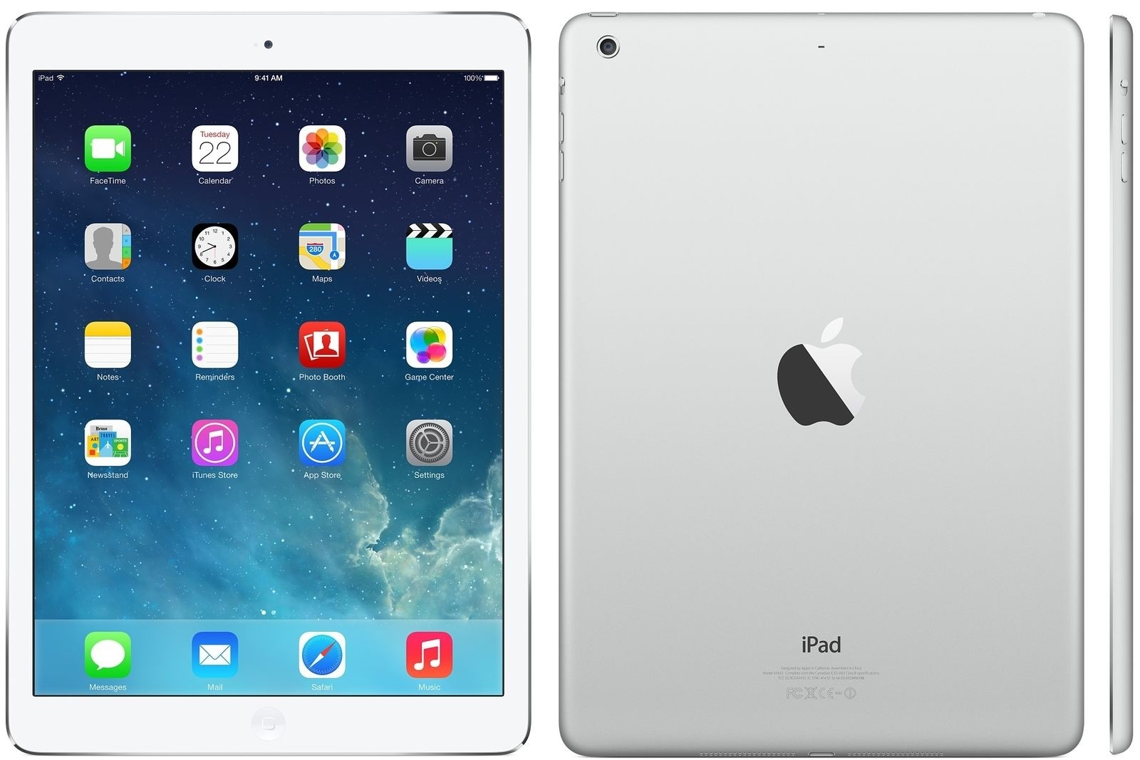 Apple iPad Air - 32GB - 4G - White Silver - (Retina Display) - B+ Grade Tweedehands