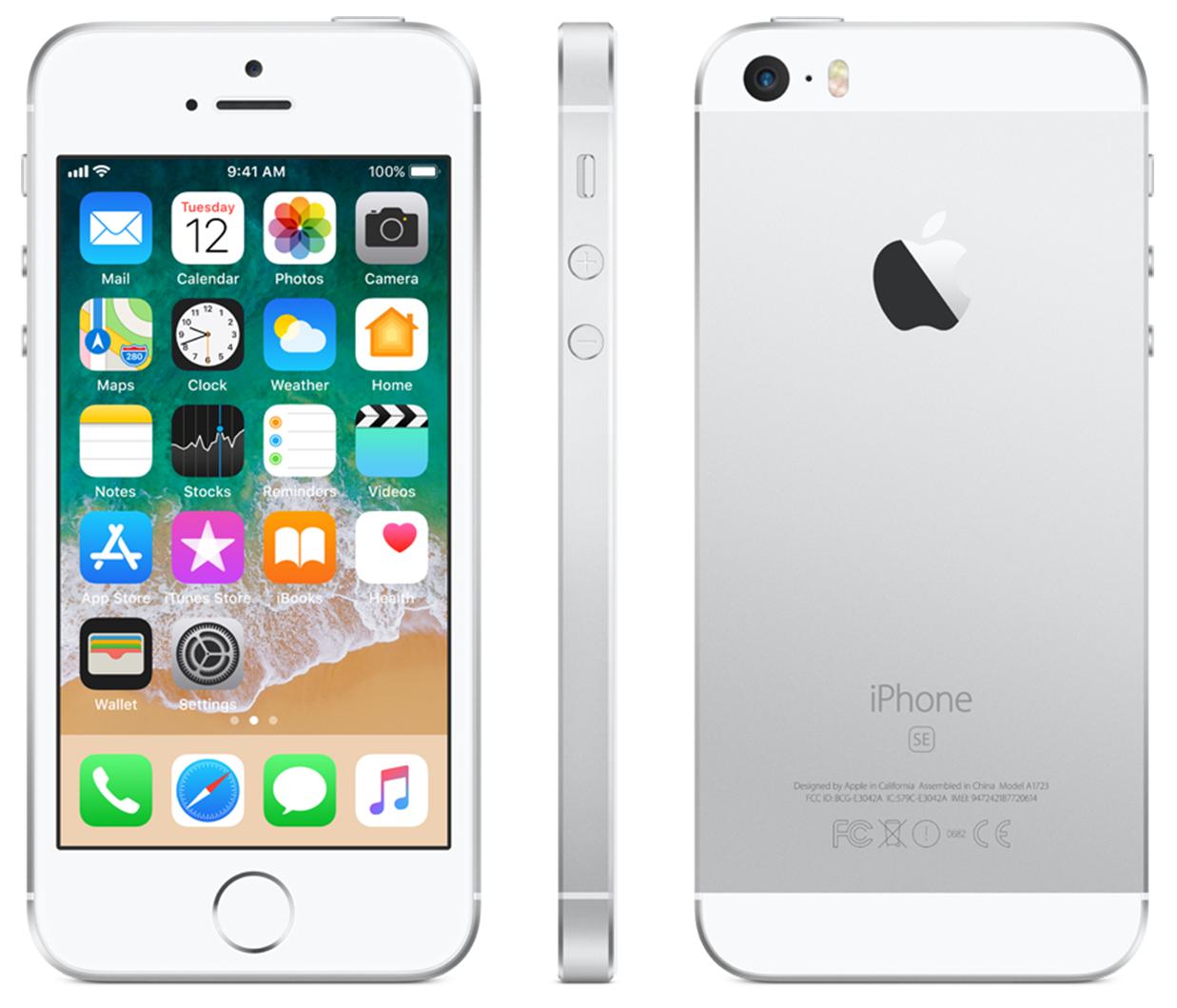 Apple iPhone SE - 32GB - White Silver - B+ Grade