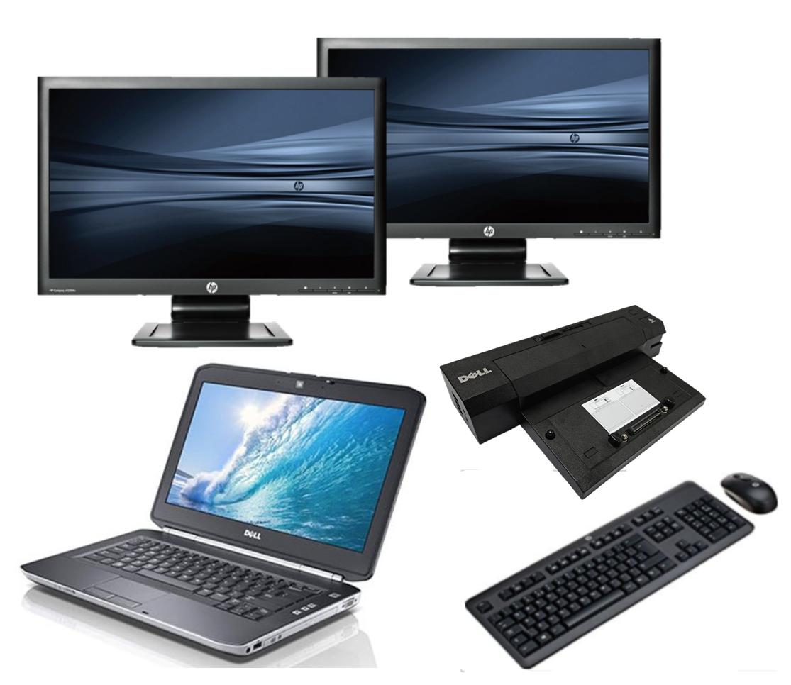Dell Latitude E5430 intel i5 + Docking + Dual 2x 24'' Widescreen Monitor