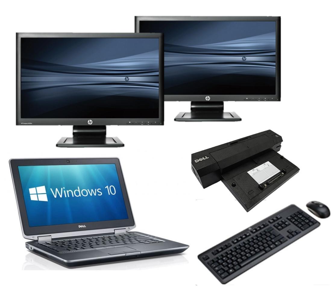 Dell Latitude E6330 intel i5 + Docking + Dual 2x 24'' Widescreen Monitor