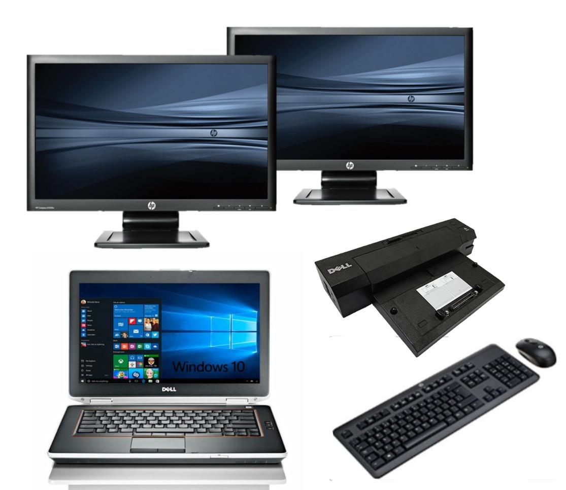 Dell Latitude E6420 intel i5 + Docking + Dual 2x 24'' Widescreen Monitor