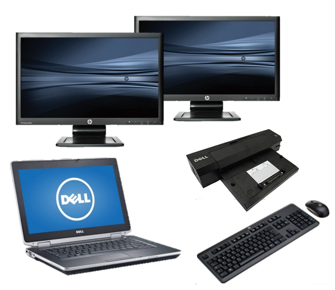 Dell Latitude E6430 intel i5 + Docking + Dual 2x 24'' Widescreen Monitor