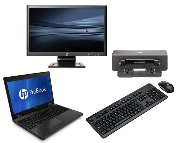 HP Probook 6560b intel i5 + Docking + 22'' Widescreen Monitor