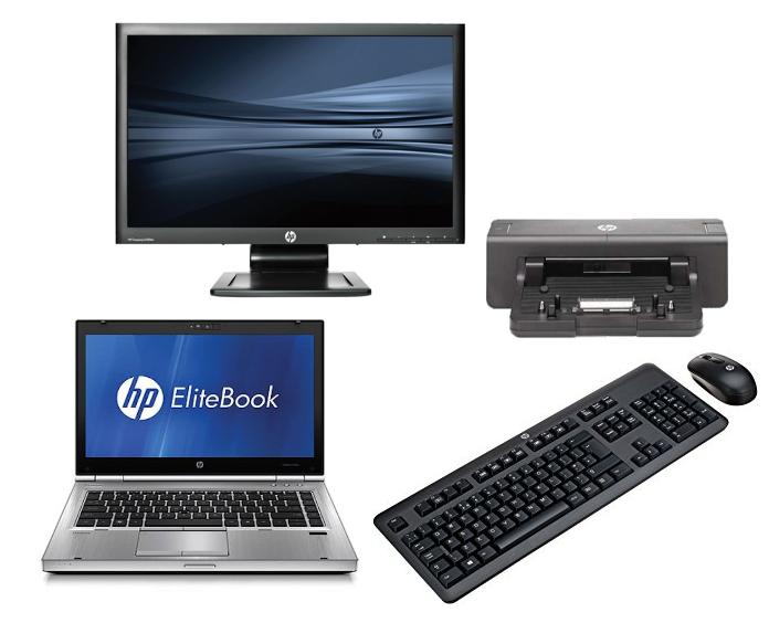 HP Elitebook 8460P Intel Core i5 4GB 320GB HDD Docking 23'' Widescreen Full HD Monitor