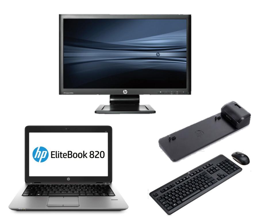 HP Elitebook 820 G1 intel i5 + Docking + 22'' Widescreen Monitor