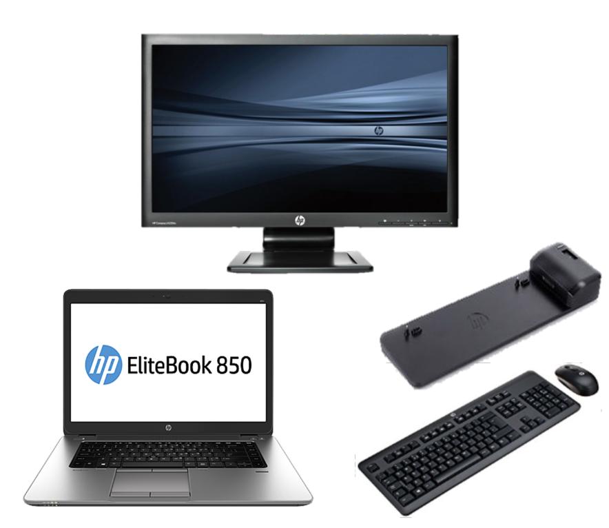 HP Elitebook 850 G2 - Intel Core i5 - 8GB - 320GB HDD + Docking + 24'' Widescreen Monitor